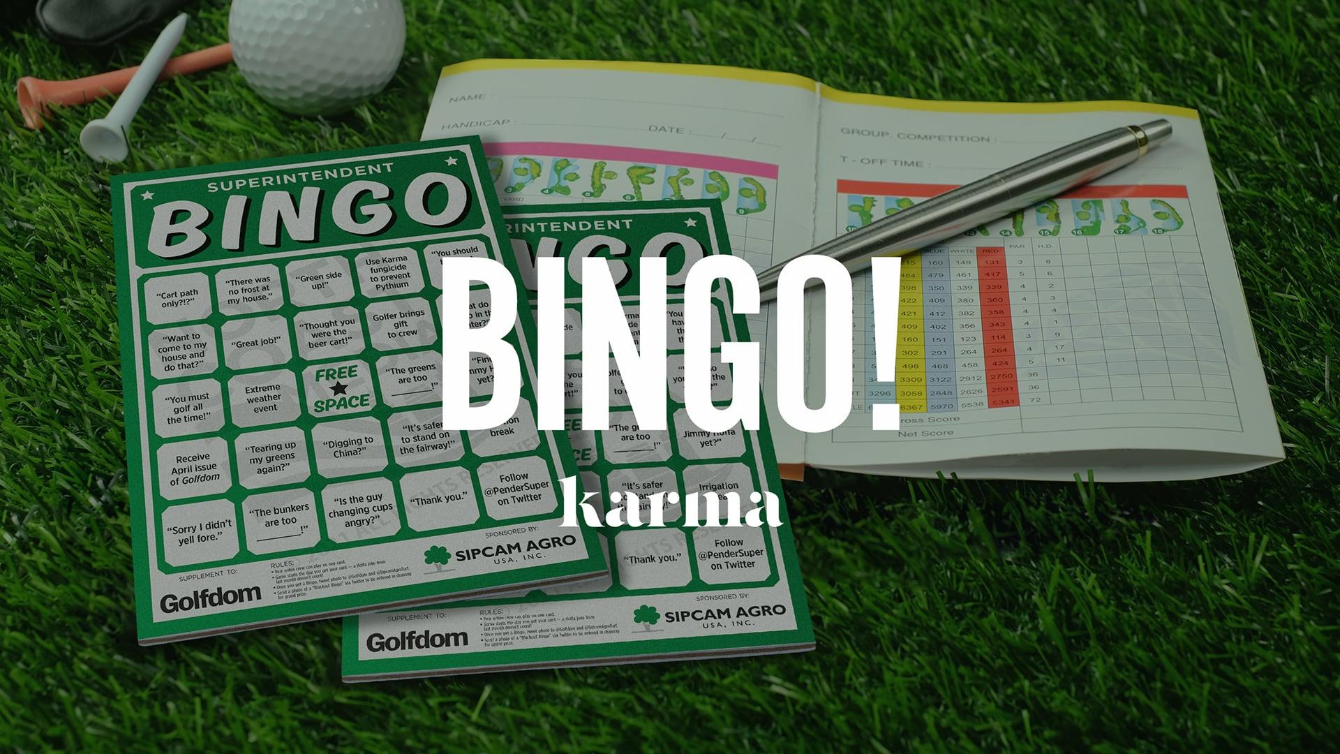 bingo cards laying on turf | Sipcam